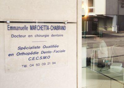 cabinet orthodontie Annecy - Plaque Docteur Marchetta